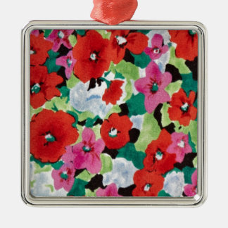 Abstract floral Pattern from PJ. Metal Ornament