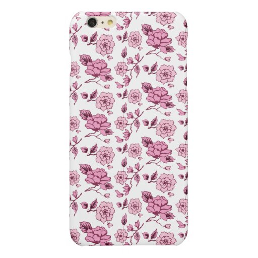 ABSTRACT FLORAL PATTERN GLOSSY iPhone 6 PLUS CASE