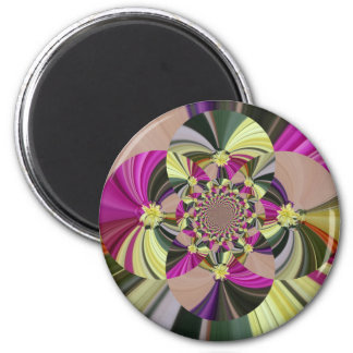 Abstract Floral Pattern Magnet
