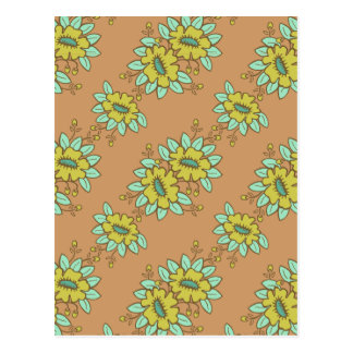 Abstract floral pattern postcard