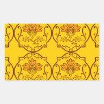 Abstract floral pattern rectangular sticker