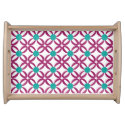 Abstract Floral Pattern Service Tray