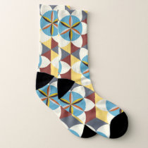 Abstract Floral Pattern Socks
