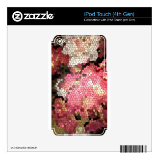 Abstract Floral Personalisable iPod Touch 4G Skins