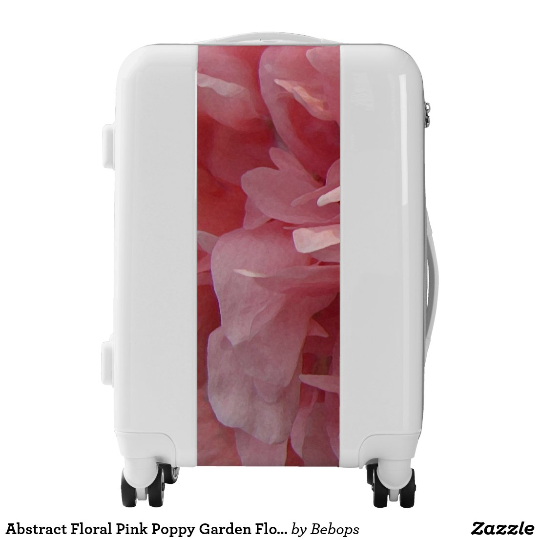 Abstract Floral Pink Poppy Garden Flower Luggage