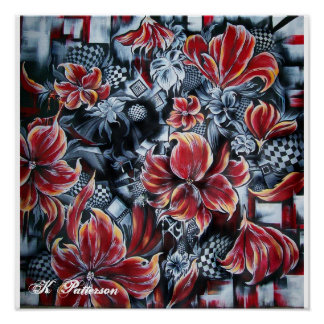 Abstract floral print