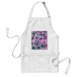 Abstract Floral Purple Apron