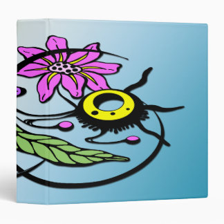 """Abstract Floral - Purple & Pink 1.5"""" Binder"""