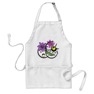 Abstract Floral - Purple & Pink Apron