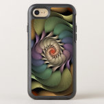 "Abstract Floral Rainbow Spiral Jardinere OtterBox Symmetry iPhone 8/7 Case<br><div class=""desc"">Phone case with &quot;Jardinere, &quot; by Susan Wallace. Copyright &#169; 2008,  Susan Wallace. A rainbow of textured petals converge in a floral spiral.</div>"