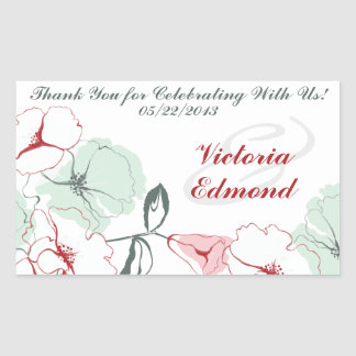 Abstract Floral Rectangle Stickers