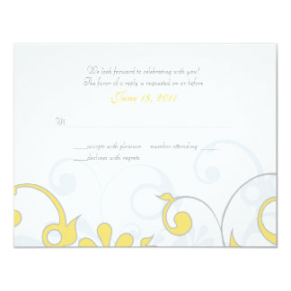 Abstract Floral Response Card