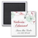 Abstract Floral Save the Date Magnet