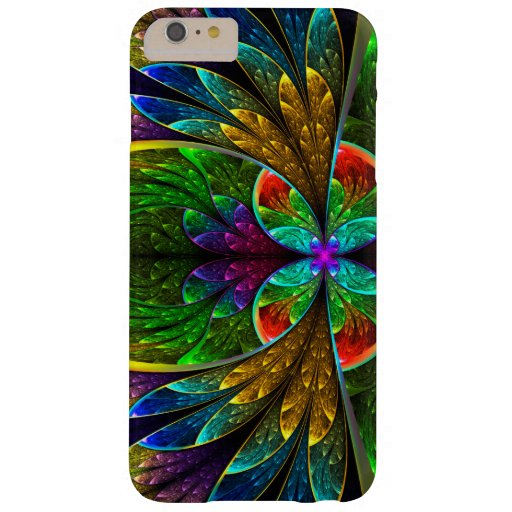 Abstract Floral Stained Glass 1 Barely There iPhone 6 Plus Case