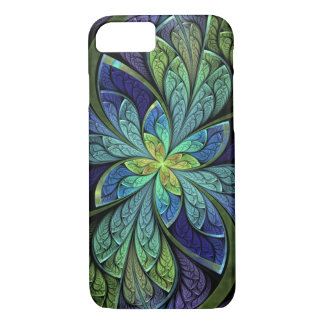 Abstract Floral Stained Glass La Chanteuse IV iPhone 7 Case