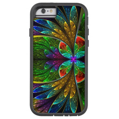 Abstract Floral Stained Glass Pattern Tough Xtreme iPhone 6 Case