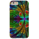 Abstract Floral Stained Glass Pattern Tough iPhone 6 Plus Case