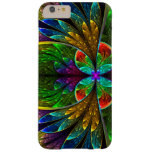 Abstract Floral Stained Glass Pattern Barely There iPhone 6 Plus Case