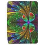 Abstract Floral Stained Glass Pattern iPad Air Cover