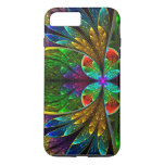 Abstract Floral Stained Glass Pattern iPhone 7 Plus Case
