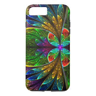 Abstract Floral Stained Glass Pattern iPhone 8 Plus/7 Plus Case
