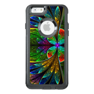 Abstract Floral Stained Glass Pattern OtterBox iPhone 6/6s Case