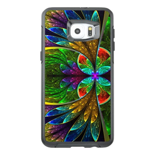 abstract floral stained glass pattern otterbox samsung galaxy s6abstract floral stained glass pattern otterbox samsung galaxy s6 edge plus case zazzle com