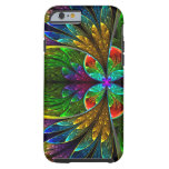 Abstract Floral Stained Glass Pattern Tough iPhone 6 Case