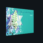 """ABSTRACT FLORAL STAR Bat Mitzvah Sign-In Board Canvas Print<br><div class=""""desc"""">WELCOME!!! I can personally help you with your order! Ask me anything! EVERYTHING is customizable! All my designs are ONE-OF-A-KIND original pieces of artwork designed by me! You can only find them here! Did you know that you can make this invite ANY color you want by simply clicking on the...</div>"""