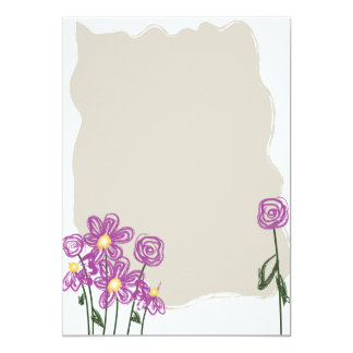 Abstract Floral Stationary Card