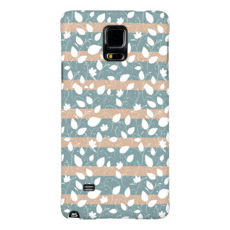 Abstract Floral Stripes Pattern Galaxy Note 4 Case