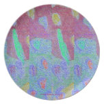 ABSTRACT FLORAL STROKES DINNERWARE PARTY PLATES