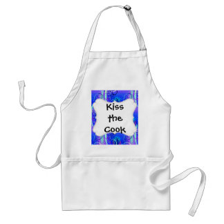Abstract Floral Swirl Blue Purple Girly Gifts Adult Apron