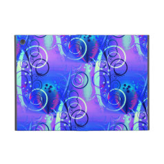 Abstract Floral Swirl Blue Purple Girly Gifts Covers For iPad Mini