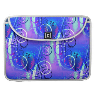 Abstract Floral Swirl Blue Purple Girly Gifts Sleeve For MacBooks