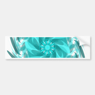 Abstract floral swirl. bumper sticker