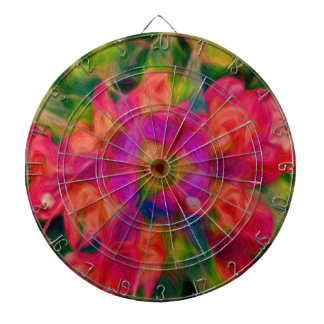 Abstract Floral Swirl Dartboard