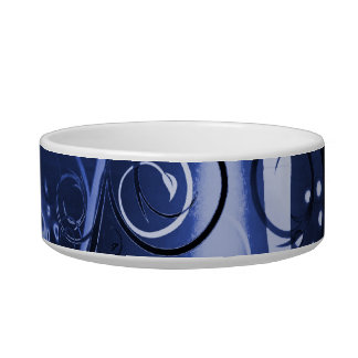 Abstract Floral Swirl Indigo Blue Girly Gifts Bowl