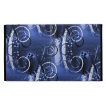 Abstract Floral Swirl Indigo Blue Girly Gifts iPad Cases