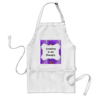 Abstract Floral Swirl Purple Mauve Aqua Girly Gift Adult Apron