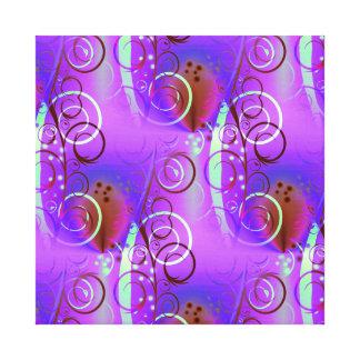 Abstract Floral Swirl Purple Mauve Aqua Girly Gift Canvas Prints
