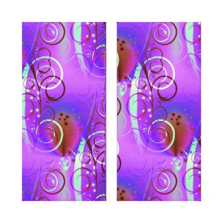Abstract Floral Swirl Purple Mauve Aqua Girly Gift Canvas Print