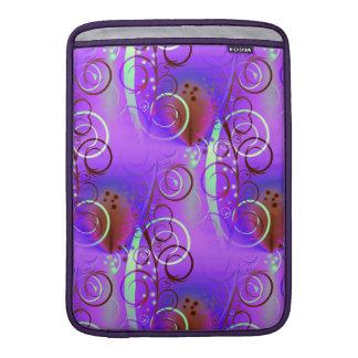 Abstract Floral Swirl Purple Mauve Aqua Girly Gift MacBook Air Sleeve