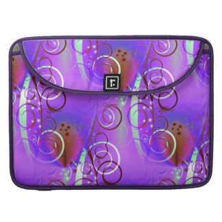 Abstract Floral Swirl Purple Mauve Aqua Girly Gift Sleeves For MacBooks