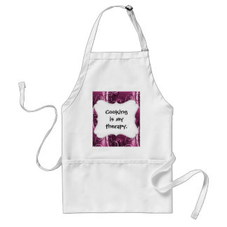 Abstract Floral Swirl Vines Deep Purple Girly Gift Adult Apron