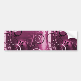 Abstract Floral Swirl Vines Deep Purple Girly Gift Car Bumper Sticker