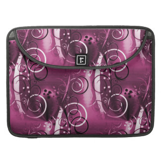 Abstract Floral Swirl Vines Deep Purple Girly Gift Sleeves For MacBooks