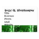 Abstract Floral Swirl Vines Green Girly Gifts Business Card Templates
