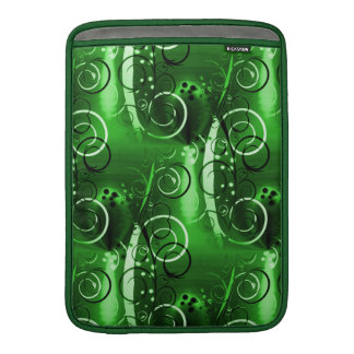 Abstract Floral Swirl Vines Green Girly Gifts Sleeves For MacBook Air