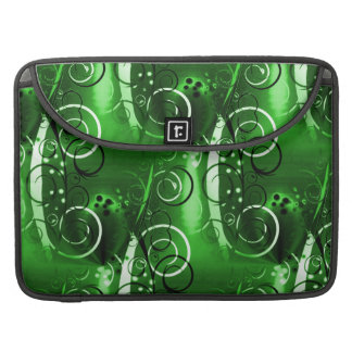 Abstract Floral Swirl Vines Green Girly Gifts MacBook Pro Sleeve